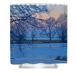 Icy Beauty Shower Curtain