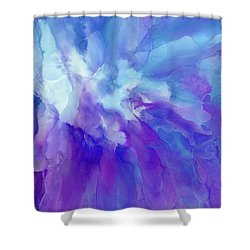 Icy Bloom Shower Curtain