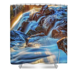 Icy Eagle Falls Shower Curtain