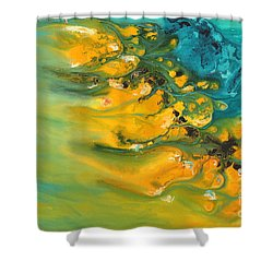 Icy Fire Shower Curtain