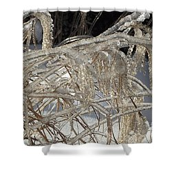 Icy Grass Shower Curtain