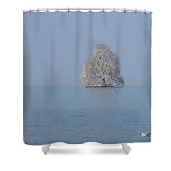 Icy Isolation Shower Curtain by Christin Brodie