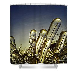 Icy Lawn Shower Curtain