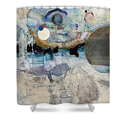 Icy Moon Shower Curtain