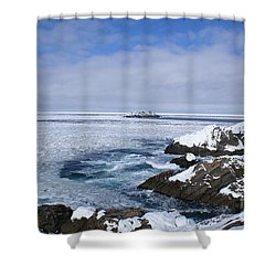 Icy Ocean Slush Shower Curtain by Annlynn Ward