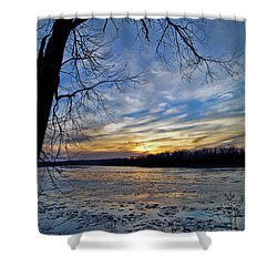 Shower Curtain featuring the photograph Icy River by Cricket Hackmann