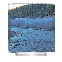 Icy River Shower Curtain