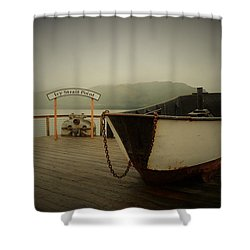 Icy Strait Point Boat Shower Curtain