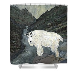 Idaho Mountain Goat Shower Curtain