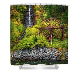 Idaho Springs Water Wheel Shower Curtain