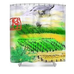 Idaho Vineyard Shower Curtain