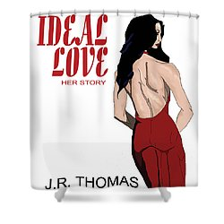 Shower Curtain featuring the digital art Ideal Love Book Cover by Jayvon Thomas