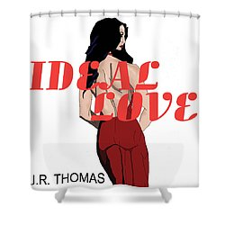 Shower Curtain featuring the digital art Ideal Love Cover by Jayvon Thomas