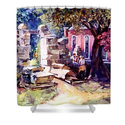 Idyllic Landscape Shower Curtain by Stan Esson