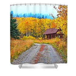 Idyllic Nostalgia Shower Curtain