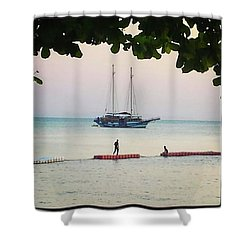 Shower Curtain featuring the photograph Idyllic Setting To Idle The Time Away by Mr Photojimsf