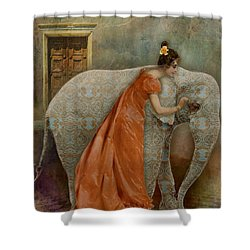 If Elephants Were Painted Shower Curtain by Lisa Noneman