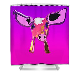 Shower Curtain featuring the photograph If Pigs Could Fly by James Bethanis