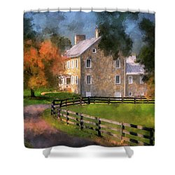 Shower Curtain featuring the digital art If These Walls Could Talk  by Lois Bryan