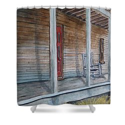If This Old Porch Could Talk Shower Curtain by Kelly Mills