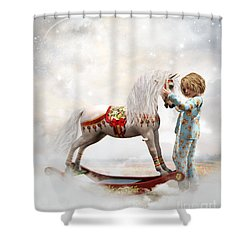 Shower Curtain featuring the digital art If We Believe by Shanina Conway