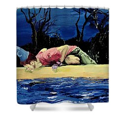 Shower Curtain featuring the painting If You Believe In Magic by Rene Capone