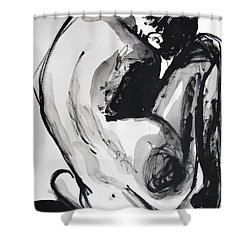 Shower Curtain featuring the painting If You Leave Me Now by Jarko Aka Lui Grande