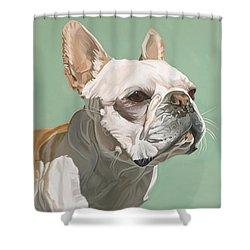 Ignatius Shower Curtain by Nathan Rhoads