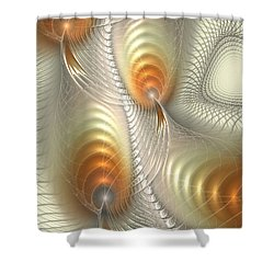Shower Curtain featuring the digital art Ignis Fatuus by Anastasiya Malakhova