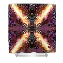 Shower Curtain featuring the digital art Ignition by Reed Novotny