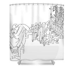 Igor Stravinsky (1882-1971) Shower Curtain by Granger