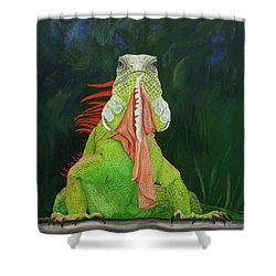 Iguana Dude Shower Curtain