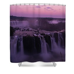 Iguazu Sunset In Violet Shower Curtain