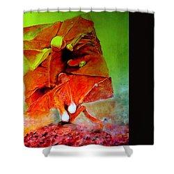 Ikar Shower Curtain by Henryk Gorecki