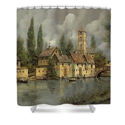 Il Borgo Sul Fiume Shower Curtain