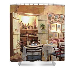 Il Caffe Dell'armadio Shower Curtain by Guido Borelli