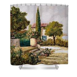 Il Cipresso Shower Curtain by Guido Borelli