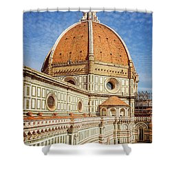 Shower Curtain featuring the photograph Il Duomo Florence Italy by Joan Carroll
