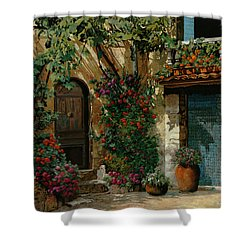 Il Giardino Francese Shower Curtain by Guido Borelli
