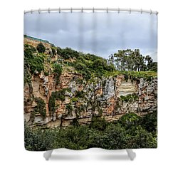 Il Maqluba, Qrendi On A Cloudy Day Shower Curtain by Stephan Grixti