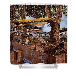 il mercato di St Paul Shower Curtain by Guido Borelli