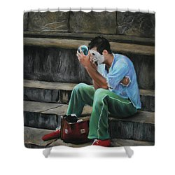 Il Mimo - The Mime Florence Italy Shower Curtain by Kelly Borsheim