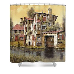 Il Mulino Giallo Shower Curtain by Guido Borelli