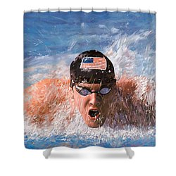 Il Nuotatore Shower Curtain