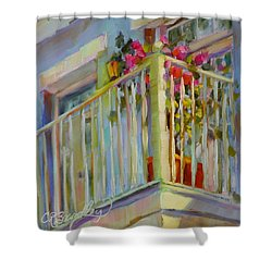 I'll Leave The Porch Light On Shower Curtain by Chris Brandley
