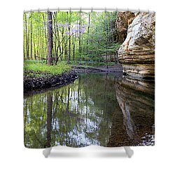 Illinois Canyon In Springstarved Rock State Park Shower Curtain