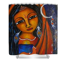 Shower Curtain featuring the painting Illuminate by Prerna Poojara