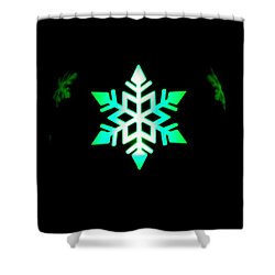 Illuminated Candle Bulb Shower Curtain