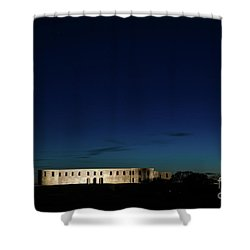 Shower Curtain featuring the photograph Illuminated Castle Ruin by Kennerth and Birgitta Kullman