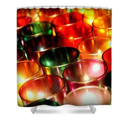 Illuminated Prayers Shower Curtain